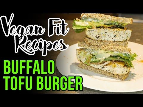 Buffalo Bacon Tofu Burger