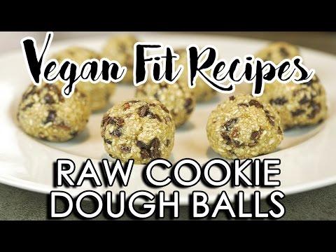 Raw Vegan Cookie Dough Balls